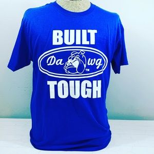 Jerzees Quote T-shirt Built Dawg Tough Size Large